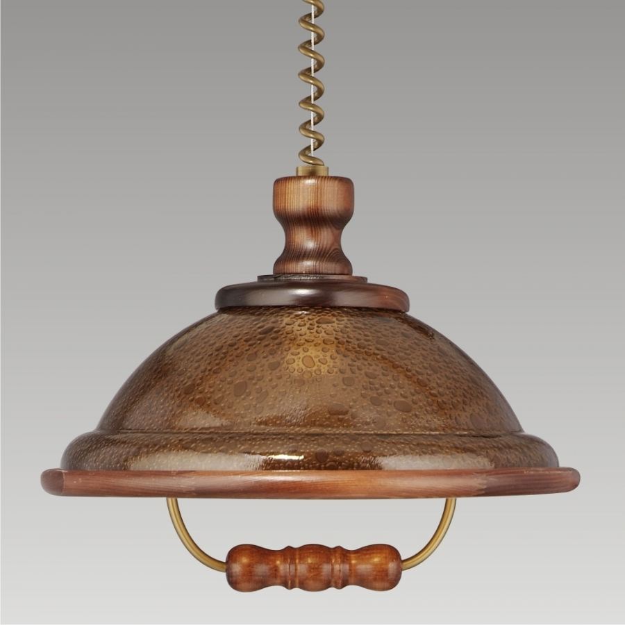 ACRYL WOOD/WLA-04	73006 K54, CHANDELIER WALNUT